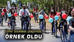 İzmir bisikletli ulaşımda örnek oldu