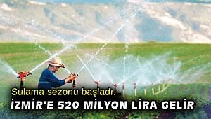 İzmir'de sulama sezonu başladı