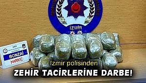 İzmir'de uyuşturucu satıcılarına darbe: Bir araçta 26 kilo bonzai ele geçirildi