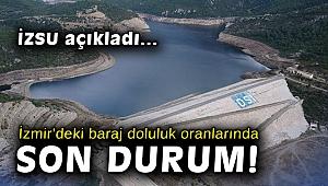 İzmir'deki baraj doluluk oranlarında son durum ne?