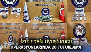 İzmir'deki uyuşturucu operasyonlarında 20 tutuklama