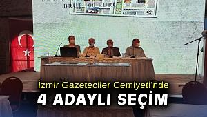 İzmir Gazeteciler Cemiyeti'nde 4 adaylı seçim