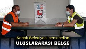Konak Belediyesi personeline uluslararası belge