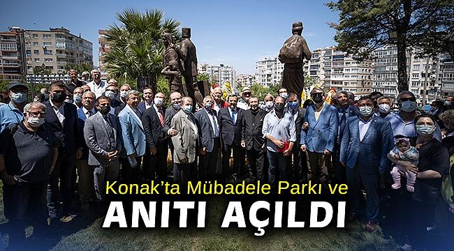 Konak'ta Mübadele Parkı ve Anıtı açıldı