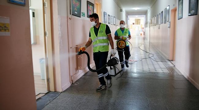 Konak'ta okullara LGS dezenfeksiyonu