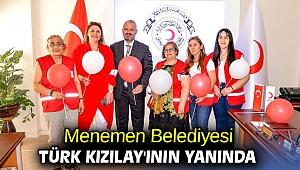 Menemen Belediyesi Türk Kızılay'ının yanında