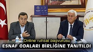 Online ruhsat başvurusu Esnaf Odaları Birliğine tanıtıldı