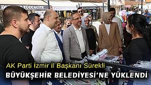 AK Parti İzmir İl Başkanı Sürekli, İzmir Büyükşehir Belediyesi'ne yüklendi