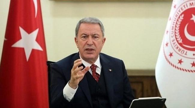 """Bakan Akar: """"Mehmetçiğin nefesi enselerinde"""""""