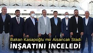 Bakan Kasapoğlu İzmir Alsancak Stadı inşaatını inceledi