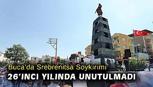 Buca'da Srebrenitsa Soykırımı 26'ıncı yılında unutulmadı