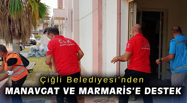 Çiğli Belediyesi'nden yangın kabusu yaşanan Manavgat ve Marmaris'e destek