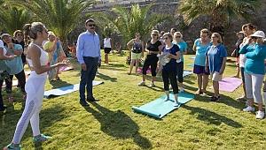 Dikili'de pilates ve aerobik zamanı