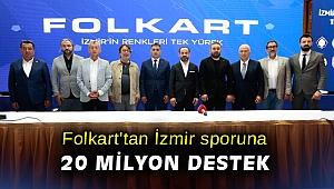Folkart'tan İzmir sporuna 20 milyon destek