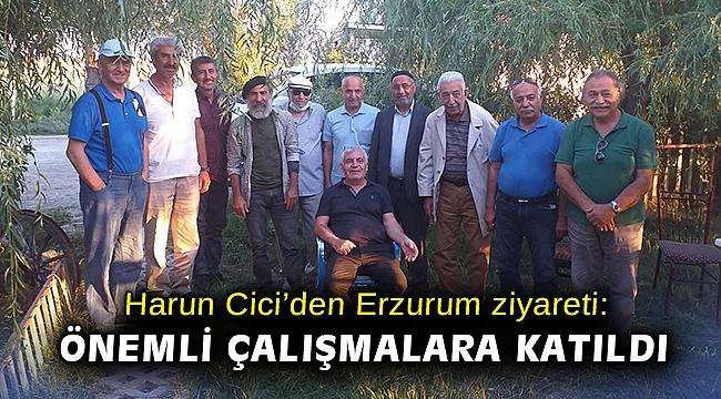 Harun Cici'den Erzurum ziyareti: Önemli çalışmalara katıldı