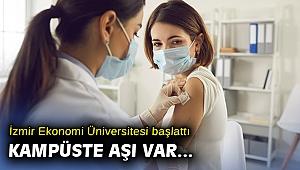 İEÜ'den örnek kampanya: Kampüste 'aşı' günleri