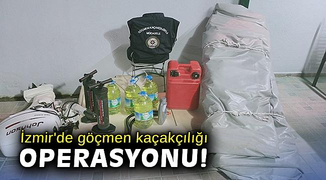 İzmir'de göçmen kaçakçılığı operasyonu: 3 tutuklama
