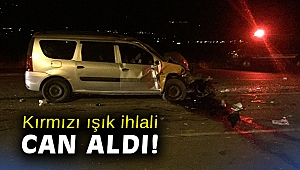 İzmir'de minibüsün otomobile çarptığı kazada 1 kişi öldü