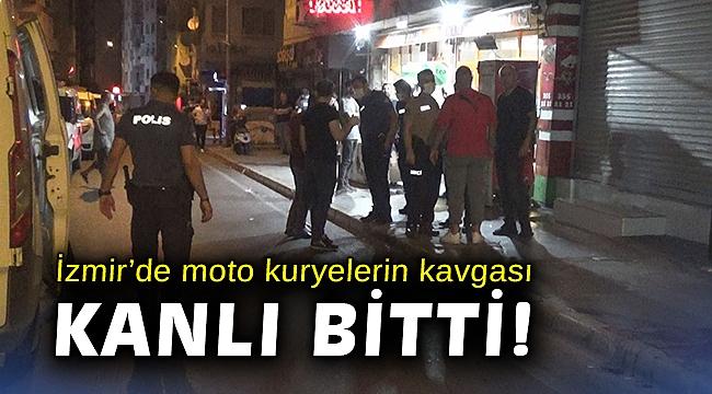 İzmir'de moto kuryelerin kavgası kanlı bitti