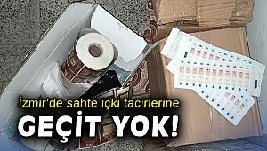 İzmir'de sahte içki tacirlerine geçit yok