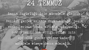 İzmir Gazeteciler Cemiyeti: 24 Temmuz basın özgürlüğü için mücadele günüdür