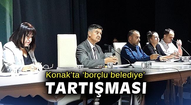 Konak'ta 'borçlu belediye' tartışması