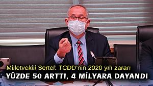 Milletvekili Sertel: TCDD'nin 2020 yılı zararı yüzde 50 arttı, 4 milyara dayandı