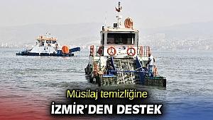 Müsilaj temizliğine İzmir'den destek