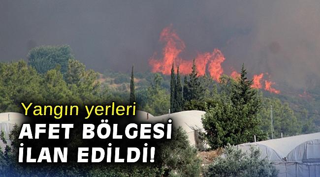 Yangından etkilenen yerler 'Genel Hayata Etkili Afet Bölgesi' ilan edildi