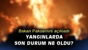 Bakan Pakdemirli açıkladı: Yangınlarda son durum ne oldu?