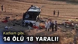Balıkesir'de katliam gibi kaza: 14 kişi öldü!