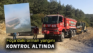 Foça'daki orman yangını kontrol altında