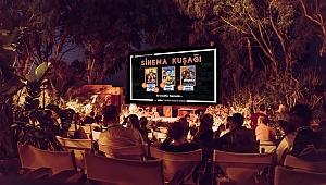 Gaziemir'de açık havada sinema keyfi