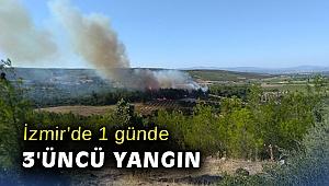 İzmir'de 1 günde 3'üncü yangın