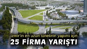 İzmir'in en uzun tünelinin yapımı için 25 firma yarıştı
