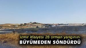 İzmir İtfaiyesi 28 orman yangınını büyümeden söndürdü