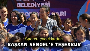 Sporcu çocuklardan Başkan Sengel'e teşekkür