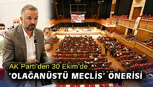 AK Parti'den 30 Ekim'de 'olağanüstü meclis' önerisi