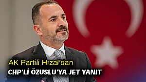 AK Partili Hızal'dan CHP'li Özuslu'ya jet yanıt