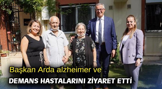 Başkan Arda alzheimer ve demans hastalarını ziyaret etti