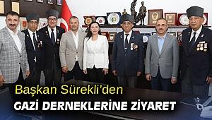 Başkan Sürekli'den Gazi Derneklerine ziyaret
