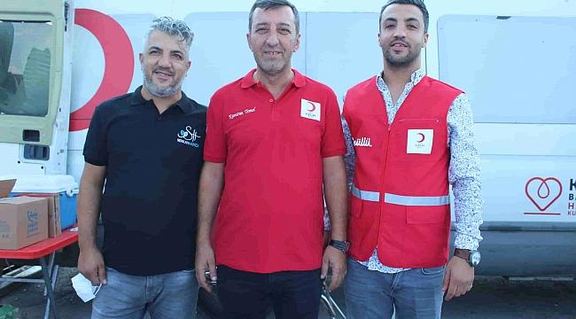 Buca Kızılay ve Serkan Hamza'dan kan verme etkinliği