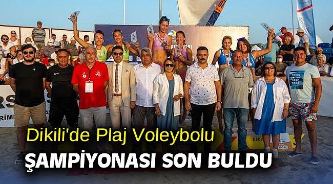 Dikili'de Plaj Voleybolu Şampiyonası Sona Erdi