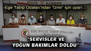 """Ege Tabip Odaları'ndan 'İzmir' için uyarı: """"Servisler ve yoğun bakımlar doldu"""""""