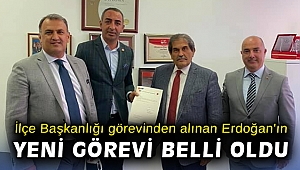 İlçe Başkanlığı görevinden alınan Erdoğan'ın yeni görevi belli oldu