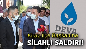 İzmir'de DEVA Partisi ilçe başkanının aracına silahlı saldırı!