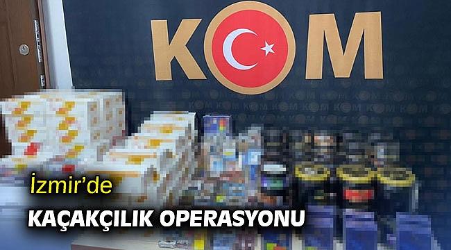 İzmir'de kaçakçılık operasyonu