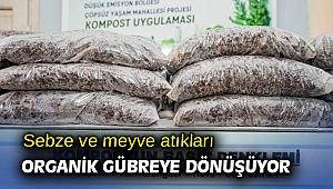 İzmir'de sebze ve meyve atıkları organik gübreye dönüşüyor