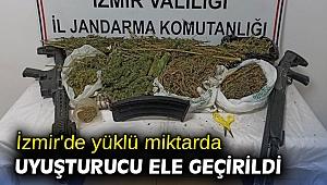 İzmir'de yüklü miktarda uyuşturucu ele geçirildi