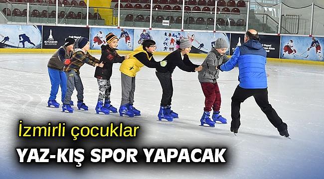 İzmirli çocuklar yaz-kış spor yapacak
